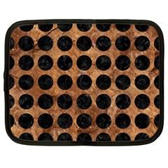 Circles1 Black Marble & Brown Stone (r) Netbook Case (xl) by trendistuff