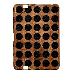 Circles1 Black Marble & Brown Stone (r) Kindle Fire Hd 8 9  Hardshell Case by trendistuff