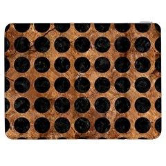 Circles1 Black Marble & Brown Stone (r) Samsung Galaxy Tab 7  P1000 Flip Case by trendistuff