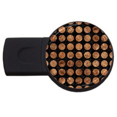 Circles1 Black Marble & Brown Stone Usb Flash Drive Round (4 Gb) by trendistuff