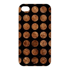 Circles1 Black Marble & Brown Stone Apple Iphone 4/4s Hardshell Case by trendistuff