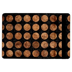 Circles1 Black Marble & Brown Stone Apple Ipad Air Flip Case by trendistuff