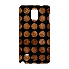 Circles1 Black Marble & Brown Stone Samsung Galaxy Note 4 Hardshell Case