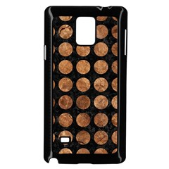 Circles1 Black Marble & Brown Stone Samsung Galaxy Note 4 Case (black) by trendistuff