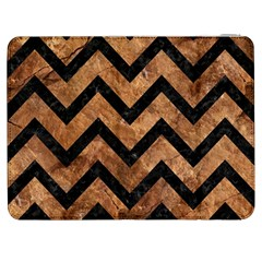 Chevron9 Black Marble & Brown Stone (r) Samsung Galaxy Tab 7  P1000 Flip Case by trendistuff