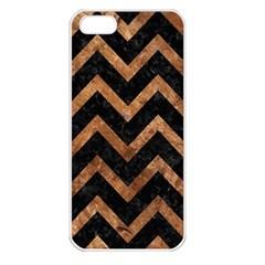 Chevron9 Black Marble & Brown Stone Apple Iphone 5 Seamless Case (white) by trendistuff