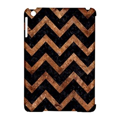 Chevron9 Black Marble & Brown Stone Apple Ipad Mini Hardshell Case (compatible With Smart Cover) by trendistuff