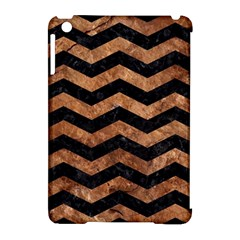 Chevron3 Black Marble & Brown Stone Apple Ipad Mini Hardshell Case (compatible With Smart Cover) by trendistuff