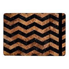 Chevron3 Black Marble & Brown Stone Samsung Galaxy Tab Pro 10 1  Flip Case by trendistuff