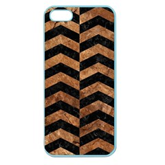 Chevron2 Black Marble & Brown Stone Apple Seamless Iphone 5 Case (color) by trendistuff