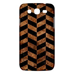 Chevron1 Black Marble & Brown Stone Samsung Galaxy Mega 5 8 I9152 Hardshell Case  by trendistuff