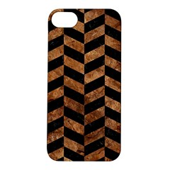 Chevron1 Black Marble & Brown Stone Apple Iphone 5s/ Se Hardshell Case by trendistuff
