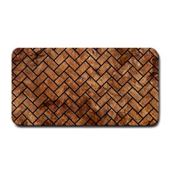 Brick2 Black Marble & Brown Stone (r) Medium Bar Mat by trendistuff