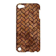 Brick2 Black Marble & Brown Stone (r) Apple Ipod Touch 5 Hardshell Case by trendistuff