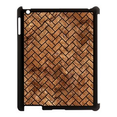 Brick2 Black Marble & Brown Stone (r) Apple Ipad 3/4 Case (black) by trendistuff