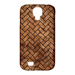 Brick2 Black Marble & Brown Stone (r) Samsung Galaxy S4 Classic Hardshell Case (pc+silicone) by trendistuff