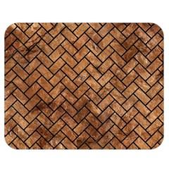 Brick2 Black Marble & Brown Stone (r) Double Sided Flano Blanket (medium) by trendistuff