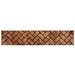 Brick2 Black Marble & Brown Stone (r) Flano Scarf (small) by trendistuff