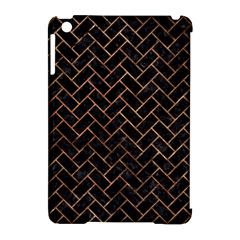 Brick2 Black Marble & Brown Stone Apple Ipad Mini Hardshell Case (compatible With Smart Cover) by trendistuff