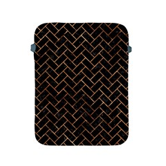 Brick2 Black Marble & Brown Stone Apple Ipad 2/3/4 Protective Soft Case by trendistuff