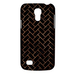 Brick2 Black Marble & Brown Stone Samsung Galaxy S4 Mini (gt I9190) Hardshell Case  by trendistuff