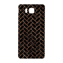 Brick2 Black Marble & Brown Stone Samsung Galaxy Alpha Hardshell Back Case by trendistuff