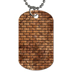 Brick1 Black Marble & Brown Stone (r) Dog Tag (two Sides) by trendistuff