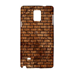 Brick1 Black Marble & Brown Stone (r) Samsung Galaxy Note 4 Hardshell Case by trendistuff