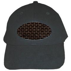 Brick1 Black Marble & Brown Stone Black Cap by trendistuff