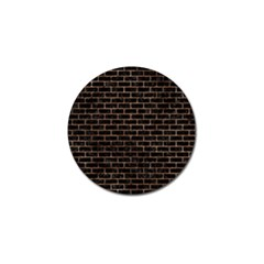 Brick1 Black Marble & Brown Stone Golf Ball Marker (10 Pack) by trendistuff