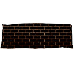 Brick1 Black Marble & Brown Stone Body Pillow Case (dakimakura) by trendistuff