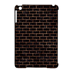 Brick1 Black Marble & Brown Stone Apple Ipad Mini Hardshell Case (compatible With Smart Cover) by trendistuff