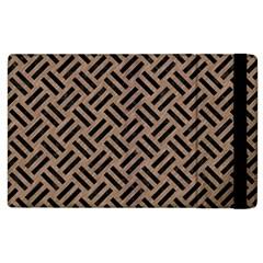 Woven2 Black Marble & Brown Colored Pencil (r) Apple Ipad 3/4 Flip Case by trendistuff