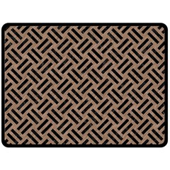 Woven2 Black Marble & Brown Colored Pencil (r) Double Sided Fleece Blanket (large) by trendistuff