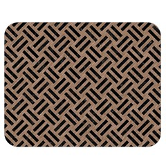 Woven2 Black Marble & Brown Colored Pencil (r) Double Sided Flano Blanket (medium) by trendistuff