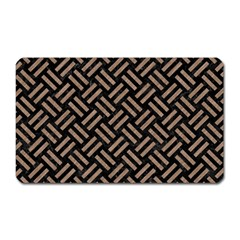Woven2 Black Marble & Brown Colored Pencil Magnet (rectangular) by trendistuff