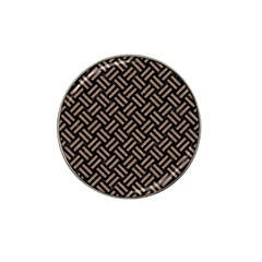 Woven2 Black Marble & Brown Colored Pencil Hat Clip Ball Marker (4 Pack) by trendistuff