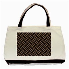 Woven2 Black Marble & Brown Colored Pencil Basic Tote Bag by trendistuff