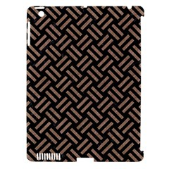 Woven2 Black Marble & Brown Colored Pencil Apple Ipad 3/4 Hardshell Case (compatible With Smart Cover) by trendistuff