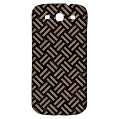 Woven2 Black Marble & Brown Colored Pencil Samsung Galaxy S3 S Iii Classic Hardshell Back Case by trendistuff