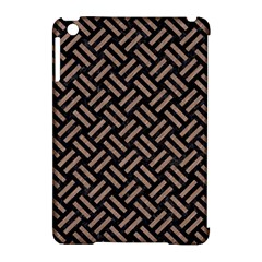 Woven2 Black Marble & Brown Colored Pencil Apple Ipad Mini Hardshell Case (compatible With Smart Cover) by trendistuff