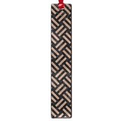 Woven2 Black Marble & Brown Colored Pencil Large Book Mark by trendistuff