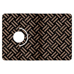 Woven2 Black Marble & Brown Colored Pencil Kindle Fire Hdx Flip 360 Case by trendistuff