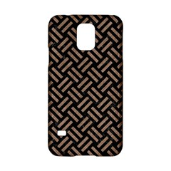 Woven2 Black Marble & Brown Colored Pencil Samsung Galaxy S5 Hardshell Case  by trendistuff