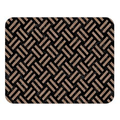 Woven2 Black Marble & Brown Colored Pencil Double Sided Flano Blanket (large) by trendistuff