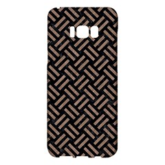Woven2 Black Marble & Brown Colored Pencil Samsung Galaxy S8 Plus Hardshell Case  by trendistuff
