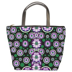 Fantasy Flower Forest  In Peacock Jungle Wood Bucket Bags by pepitasart