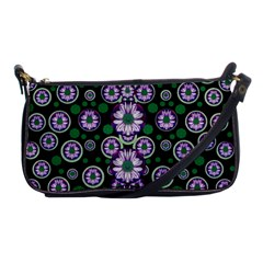 Fantasy Flower Forest  In Peacock Jungle Wood Shoulder Clutch Bags by pepitasart