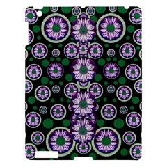 Fantasy Flower Forest  In Peacock Jungle Wood Apple Ipad 3/4 Hardshell Case by pepitasart