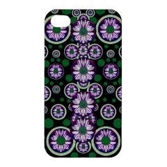 Fantasy Flower Forest  In Peacock Jungle Wood Apple Iphone 4/4s Premium Hardshell Case by pepitasart